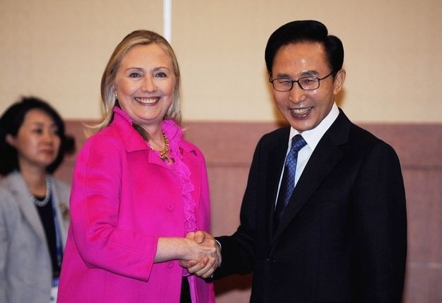 South Korea | A Photo Of Hillary Clinton In Every Country She's Visited - BuzzFeed News