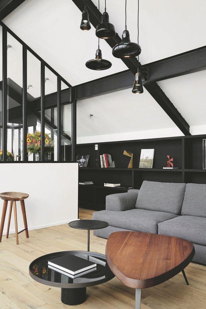 Un salon contemporain avec verrires 42 best
