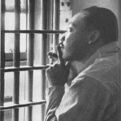 Let us remember the man who had a dream...   At the center of non-violence stands the principle of love.   - Martin Luther King, Jr.     photo: Birmingham jail in 1963