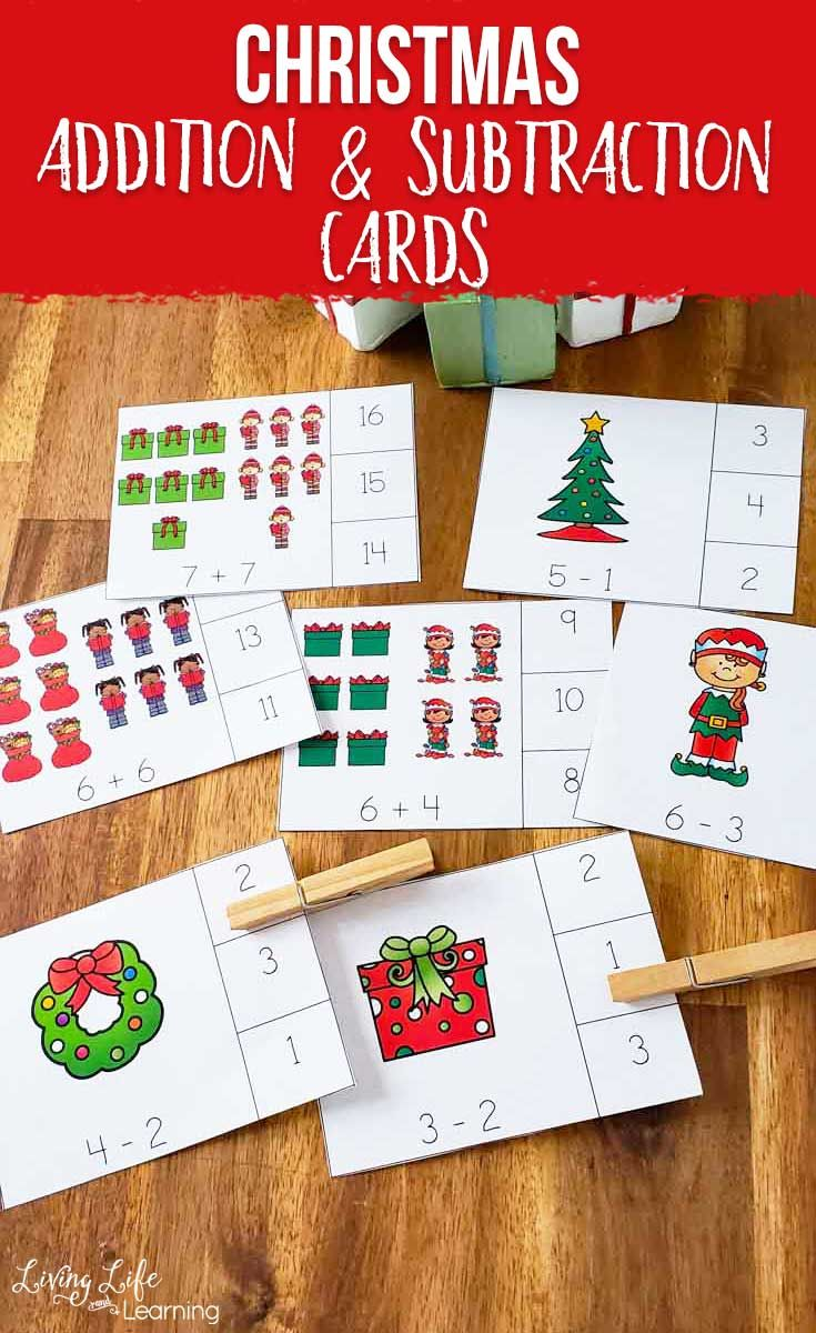 Christmas Addition And Subtraction Cards Christmas Addition Christmas Math Activities Christmas Kindergarten Free christmas addition and subtraction