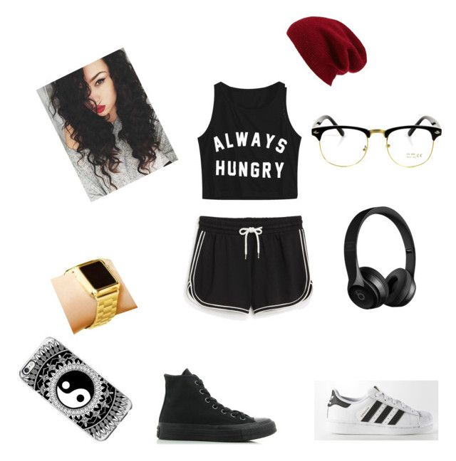 """""""The Monday outfit"""" by explorer-14972457385 ❤ liked on Polyvore featuring Monki, adidas, Halogen and Converse"""