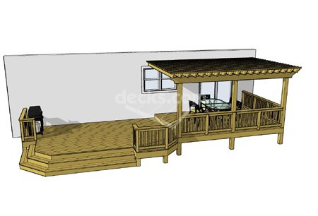 Pergola and deck idea