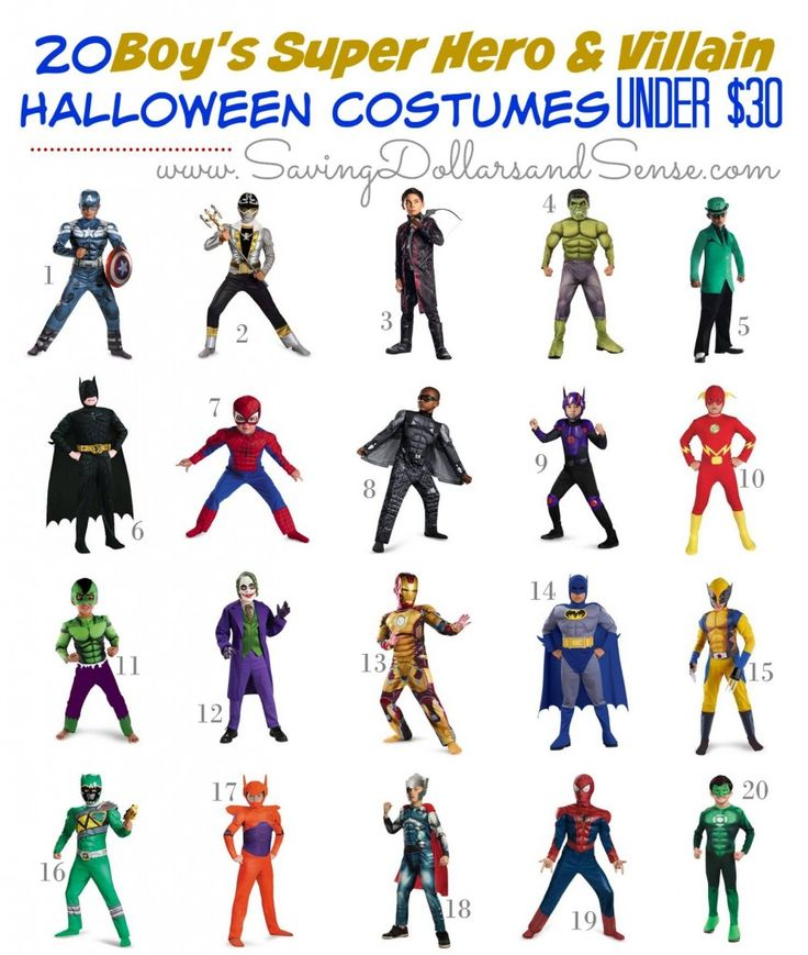 Best Superhero and Villain Costumes for Boys