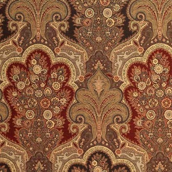 New Castle Paisley | 3362013 In Cranberry | Schumacher Fabric