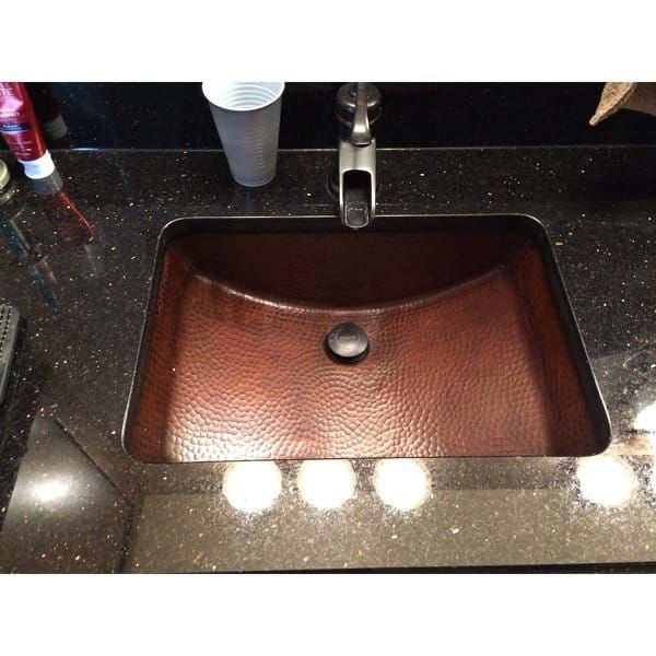 Sinkology Curie 21 Undermount Bath Sink With Overflow In Aged