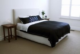 Our Classic Black set with the attachable white bamboo/cotton is a perfect match for a white bedroom