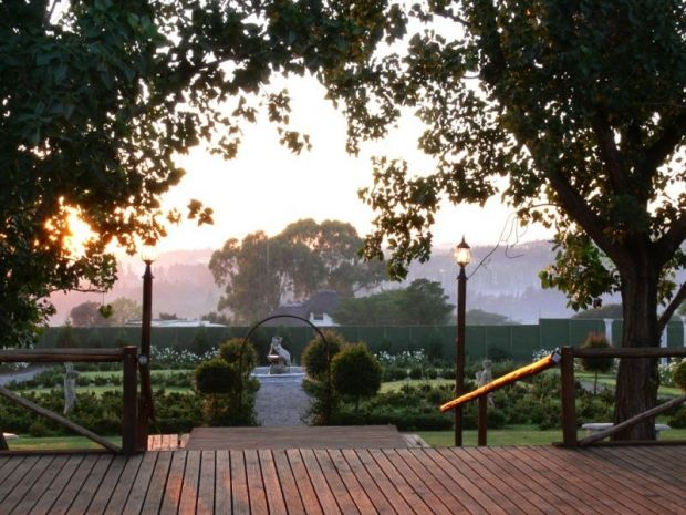 The sunset from a patio at Valverde Country Hotel in Lammermoor, Gauteng. http://www.gauteng.net/attractions/entry/valverde_country_hotel