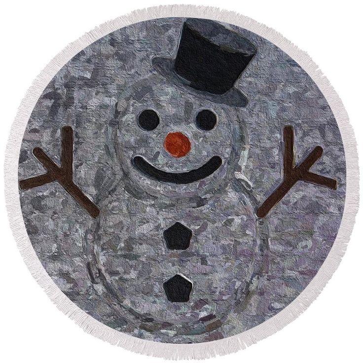 #snowman #emoji #beach Towel  pixels.com