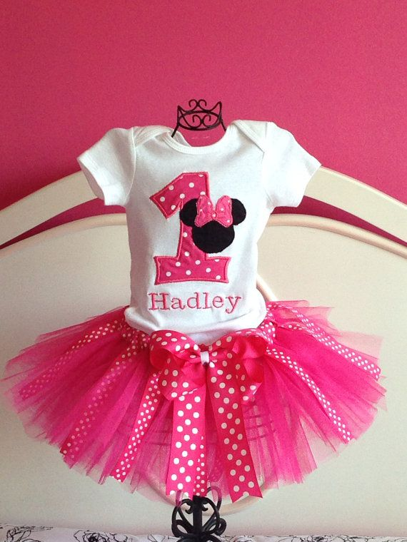 Personalized Minnie Mouse  Birthday tutu by LilybugsBowtique