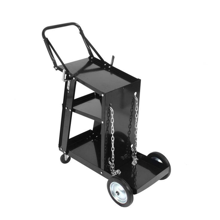 Welding Cart w/ Trolley 3 Level Storage Space Mig Tig MAG ARC Plasma Welding Machine Welder Tool
