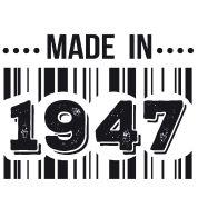 T-shirt made in 1947 | T shirt anniversaire - naissance 10 20 30 40 50 60 70 80 90 100 ans