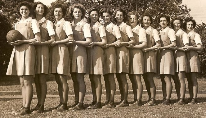 The 1948 All-Australian Netball Team. 3 ladies were inducted into Netball Australia's Hall of Fame on Saturday night, one of whom was Myrtle Baylis, who played netball for Australia in 1948.
