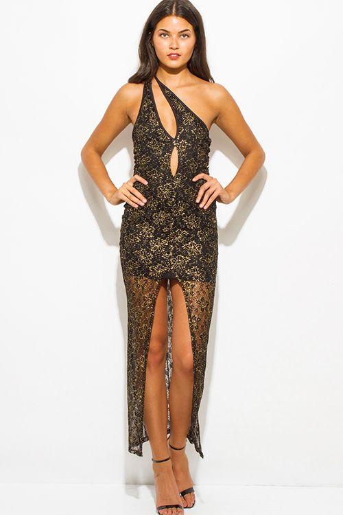 Dress: sequins, gold, long sleeve dress, cocktail dress - Wheretoget