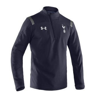 2012-13 Tottenham Half Zip Training Top (Navy) [,1233488-410] - £50.00 : Football Shirts, Football Kit and Football Strip - UKSoccershop.com - Official Soccer Merchandise