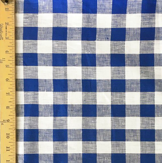 Sale  Fabric Finders Royal Blue and White 1 inch Buffalo
