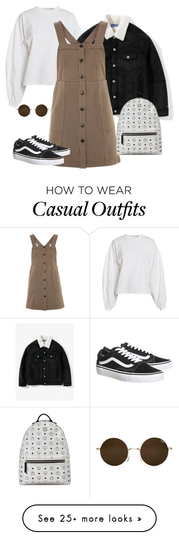 """""""Cute Casual"""" by katya-lutsik on Polyvore featuring NLY Trend, Topshop, Vans and MCM"""