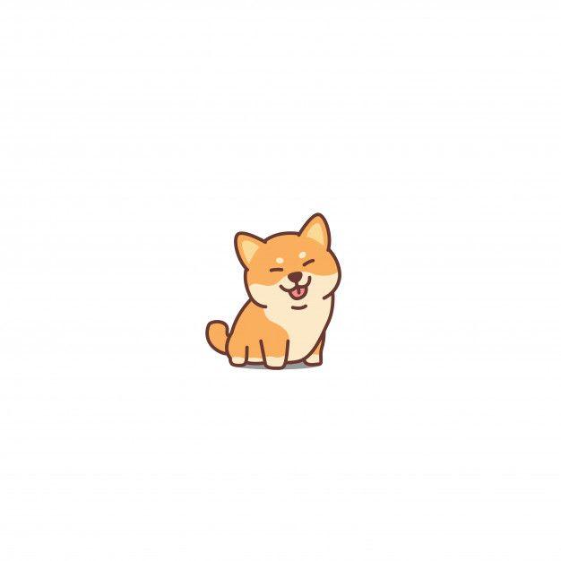 Cute Shiba Inu Dog Cartoon Icon Premium Premium Vector Freepik Vector Background In 2020 Cute Dog Drawing Cute Dog Cartoon Cute Cartoon Wallpapers