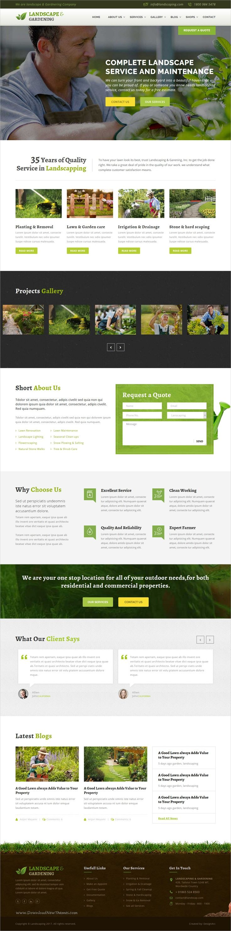 Landscape & gardening is a wonderful 4in1 responsive HTML #bootstrap template  #Gardening, #Landscaping Companies, Lawn Services, Agriculture, Landscape Architects and all type of Gardner's Business websites download now➩ https://themeforest.net/item/lanscape-gardening-html-template/17689207?ref=Datasata