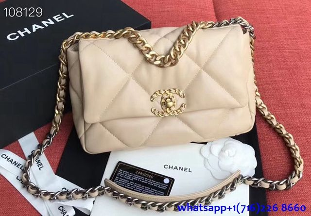 Product 1340 Chanel 19 Large Flap Bag 2019 New Bag In 2020 New Chanel Bags Beige Chanel Bag Chanel Bag