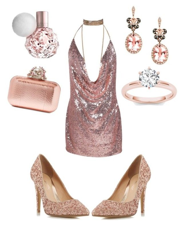"""#glitters #pink"" by sanikova on Polyvore featuring Jimmy Choo, Head Over Heels by Dune and Effy Jewelry"