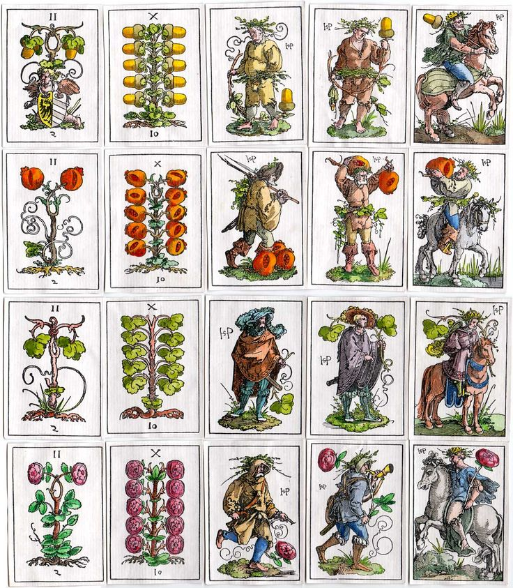Hans Sebald Beham made this pack of woodblock playing cards when he was 23 years old C. 1523 - The World of Playing Cards