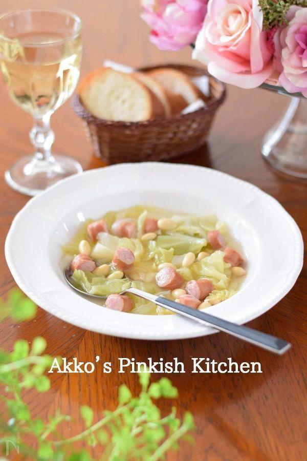 大豆は煮ものに使うよりもスープに入れた方が調理もラクですし、お子さんの場合、ウィンナーが入っているとウィンナーにつられて大豆もたくさん食べてくれます。成長期のお子さんにお薦めです。