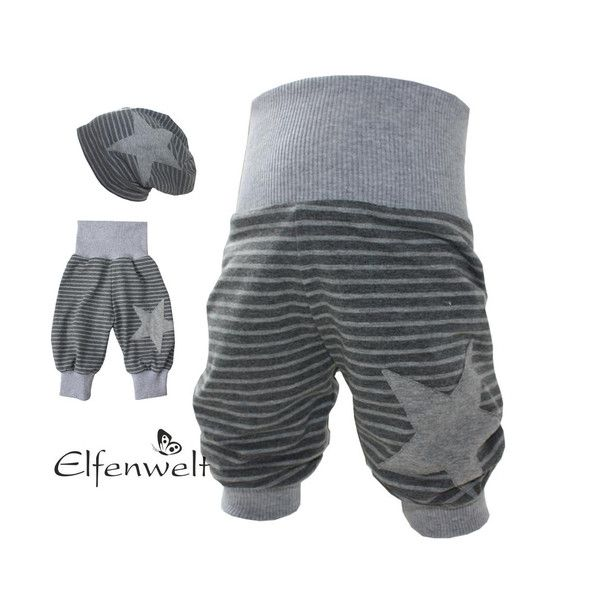 "Pumphose ""Stripes"" grau Wunschgröße von Elfenwelt auf DaWanda.com"