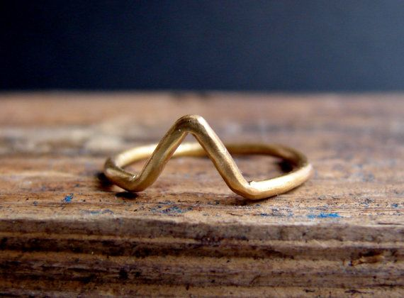 Gold Chevron ring, Geometric Ring, Arrow ring in sterling silver, handmade geometric jewelry statement ring on Etsy, $27.50