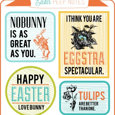 cute printable easter gift tags!