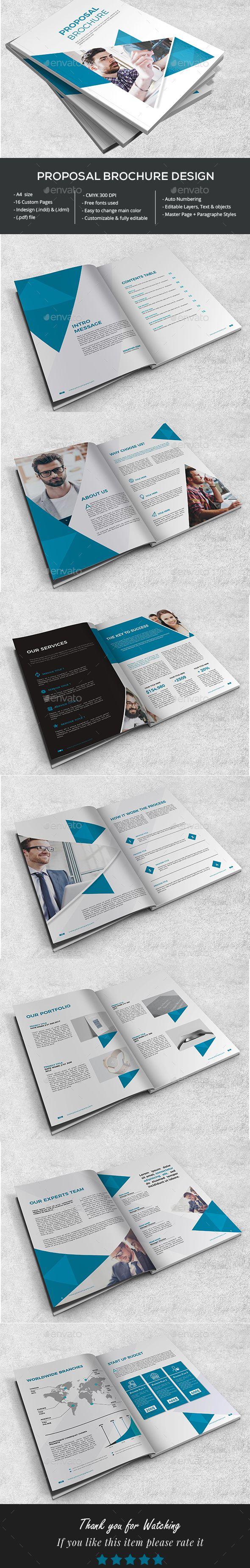 Stylish Proposal Brochure Brochure Brochure Print Bi Fold Brochure