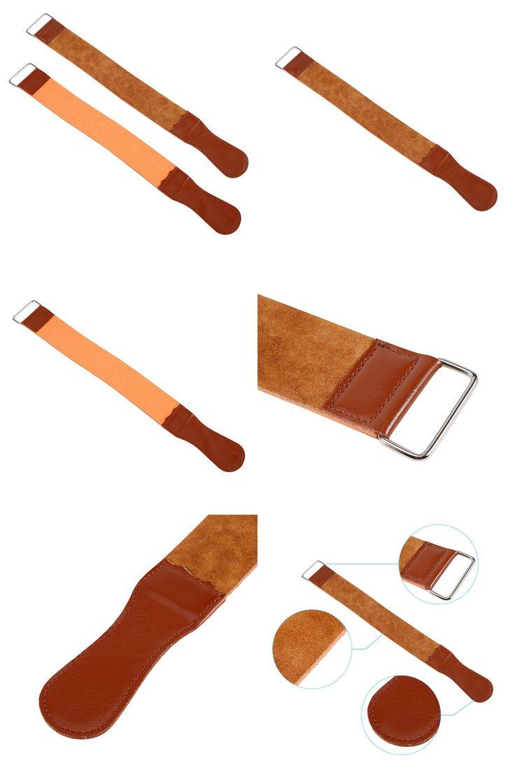 [Visit to Buy] New Men's Durable Cow Leather Manual Strop Straight Razor Knife Shaving Sharpening Strop Belt Barber Razor Male Shaving Tools #Advertisement