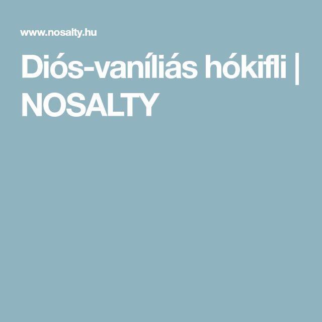 Diós-vaníliás hókifli | NOSALTY