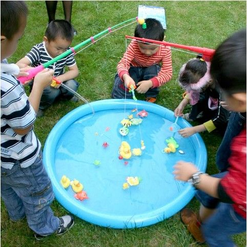 Hook A Duck Party Game Includes Inflatable Duck Pond