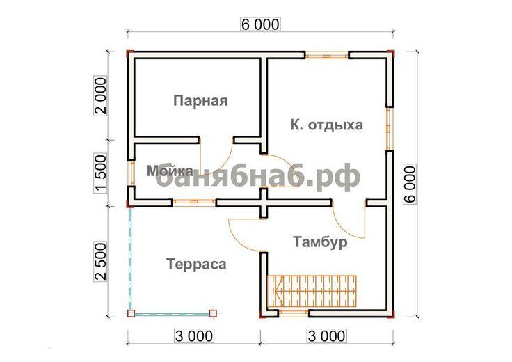 Баня 6 на 6 - строительство бань из бруса с доставкой по всей России