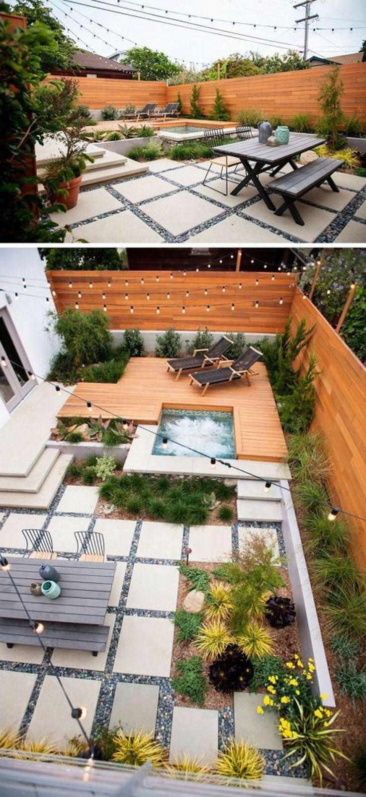 55+ Good Backyard Hot Tub Decoration Ideas  – Schöner Hinterhof garten