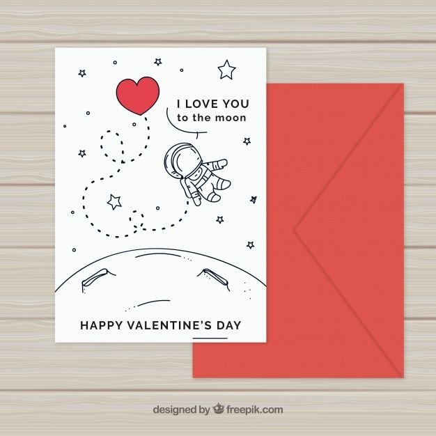 Download Hand Drawn Valentine S Day Card Template For Free Valentine Card Template Valentines Day Card Templates Valentine Day Cards