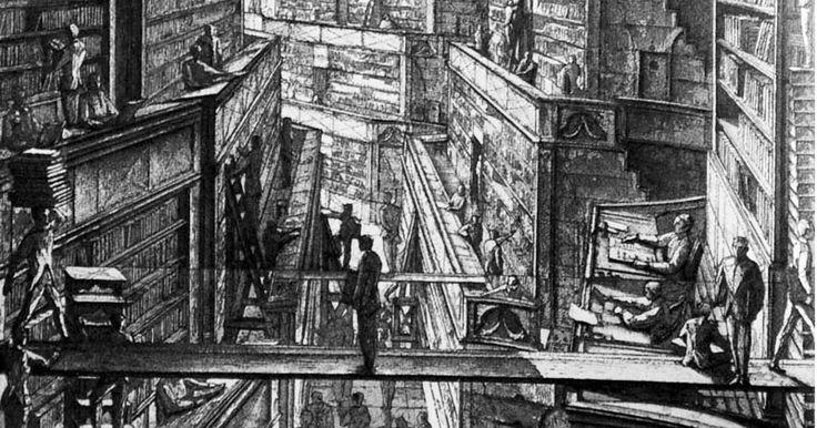 The Library of Babel | Engraving by Érik Desmazières