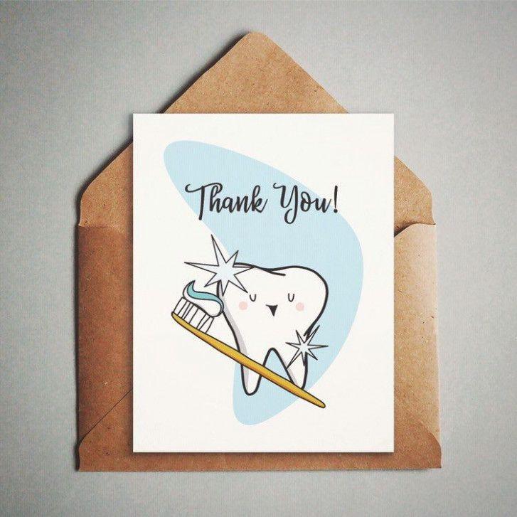 Thank You Dentist Card Printable Greeting Cards Unique Greeting Cards Thank You Cards