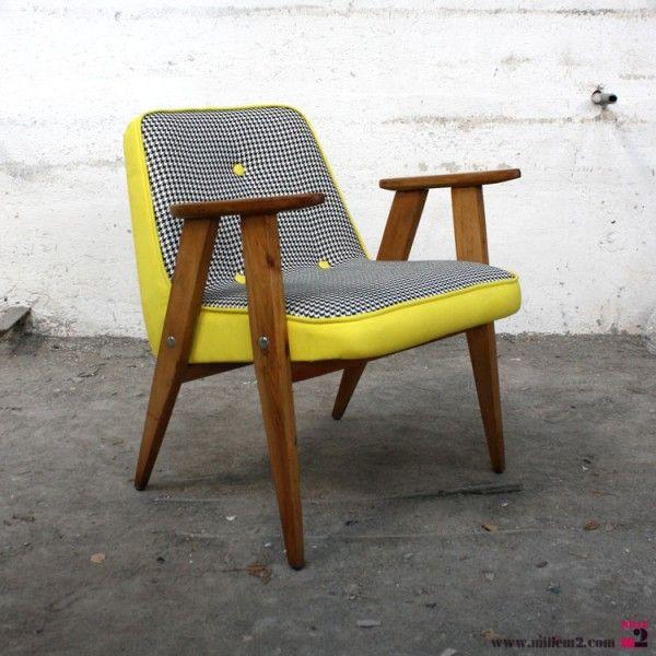 Fauteuil vintage des ann es 60 chierowski mille m2 for 4 pieds 4 chaises givors