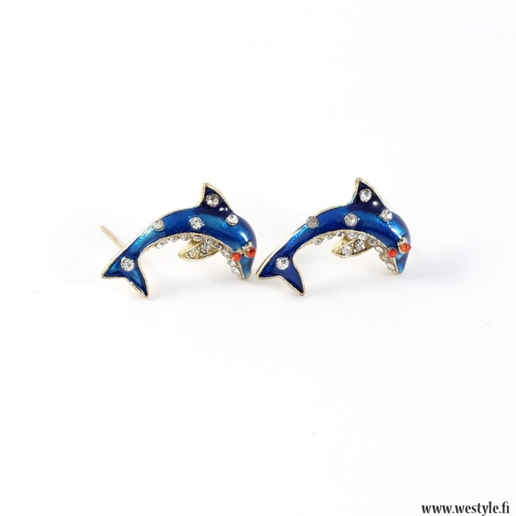 So cute dolphin earrings! www.westyle.fi