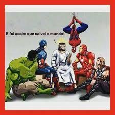 Resultado de imagem para jesus com super herois