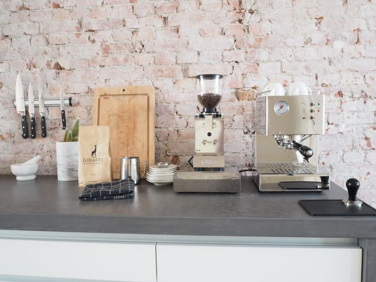 Loft rotterdam brickwall coffee quickmill kitchen giraffe coffee