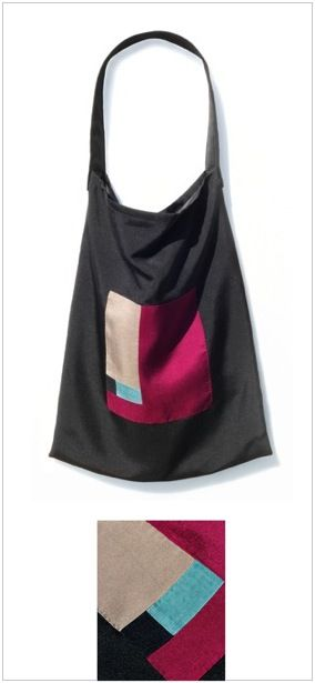 Silk Tote Bag 5 (created by the handmade craftmanship of Korean traditional Jogakbo/Pojagi) www.designmeem.com