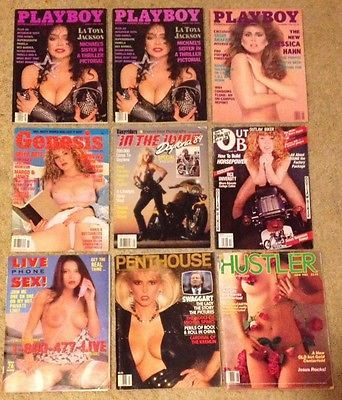 Lot Of Playboy Genesis Hustler In The Wind Outlaw Biker Penthouse Magazine 85-92  | eBay