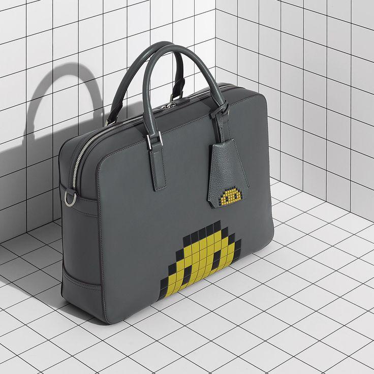 Anya Hindmarch Men's Pixel Smiley Briefcase