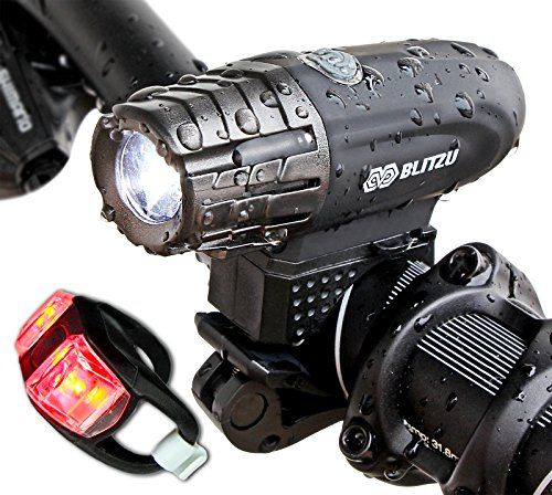Blitzu Gator 320 USB Rechargeable Bike Light Set POWERFUL...