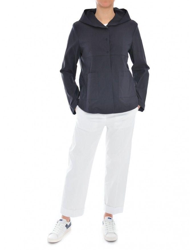 CABAN CAPPUCCIO BLU RIALTO48 #caneppele #trento #casual #look #daywear #outfit #ss2017 #jacket