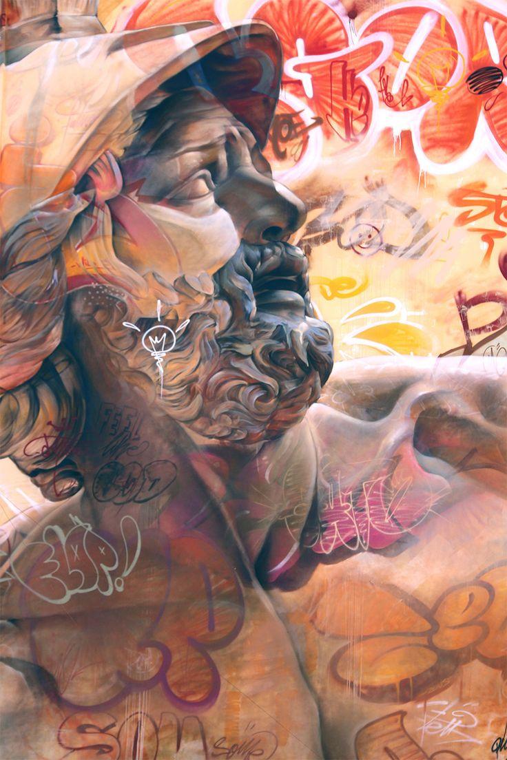 Best Mural Images On Pinterest Murals Urban Art And Paintings - Beautiful giant murals greek gods pichi avo