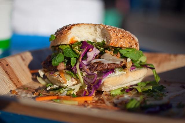 Burger by New York Ninja, by Helen Korpak, Flow Festival 2012, via Flickr