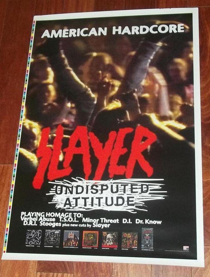 SLAYER UNDISPUTED ATTITUDE US PROMO POSTER American Hardcore Speed Metal 24 x 36